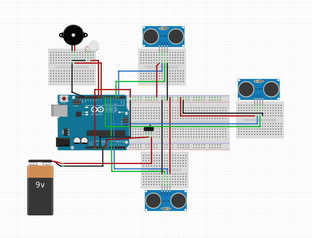 hight resolution of smart stick using arduino circuit diagram