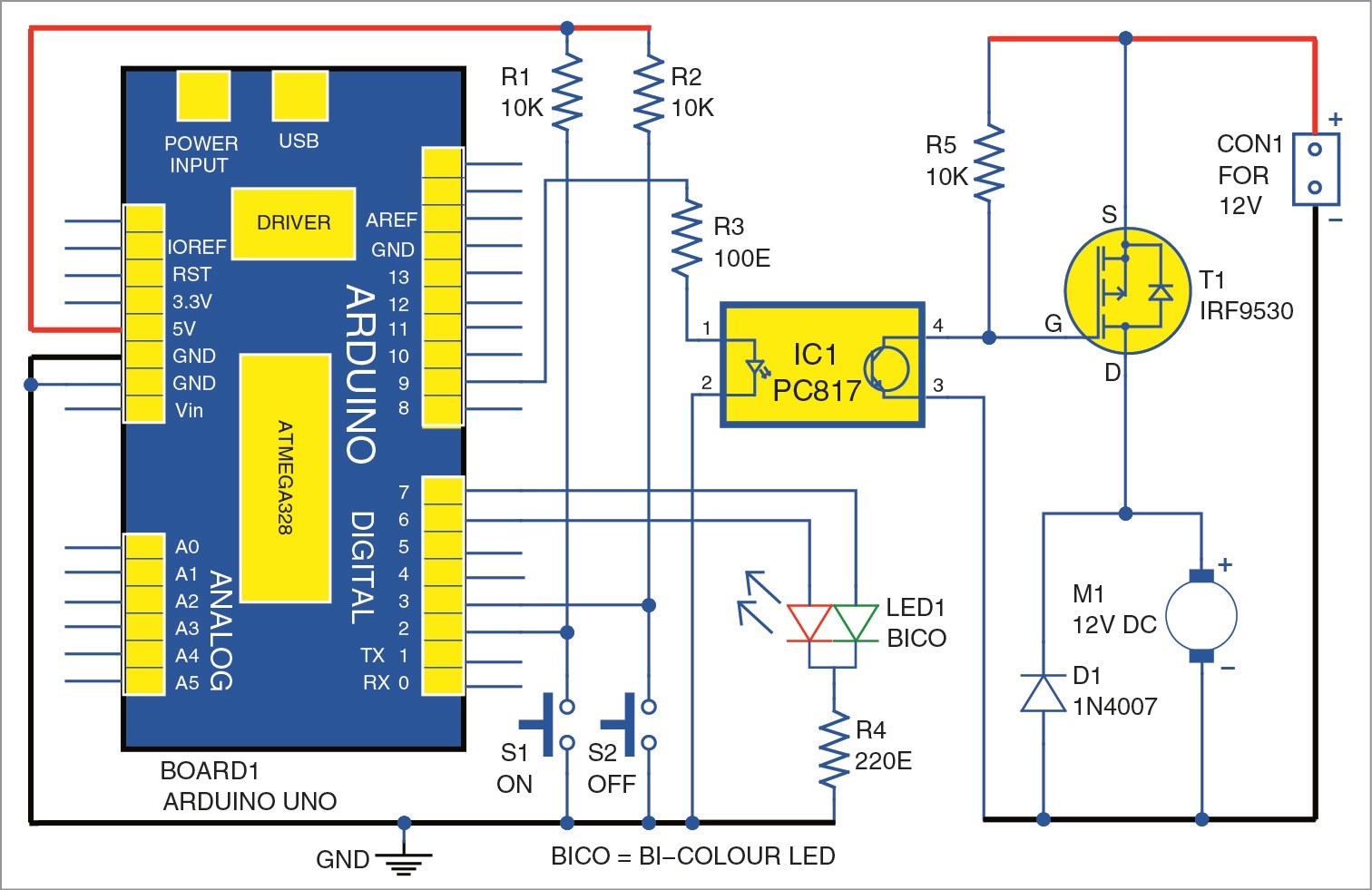 hight resolution of dc motor starter using arduino uno board