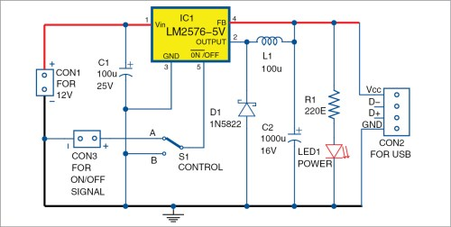 small resolution of circuit diagram of add on usb power circuit for ups