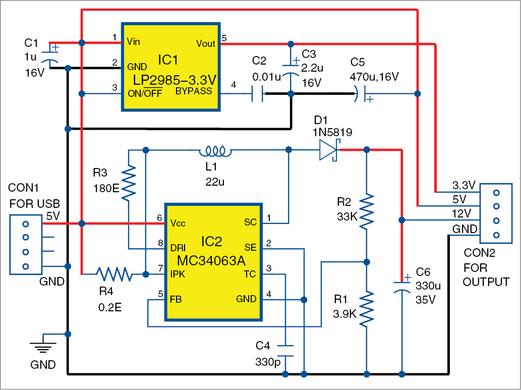 hight resolution of usb based triple power supply circuit