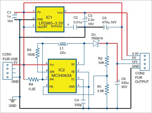 small resolution of usb based triple power supply circuit