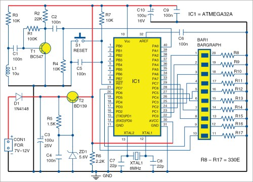 small resolution of circuit diagram of wireless vu meter