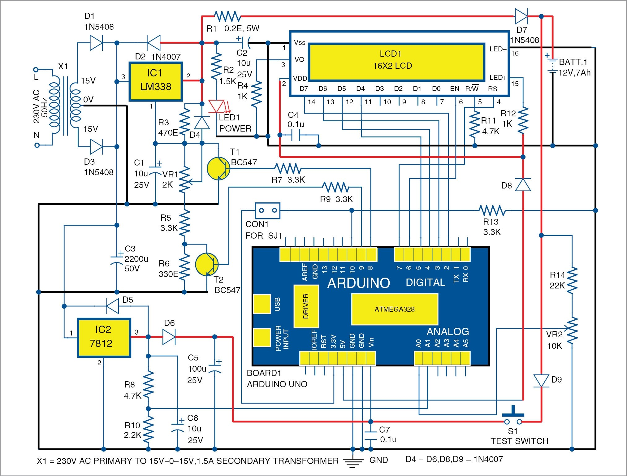 automatic 12v car battery charger circuit diagram dmz network with 3 arduino controlled full
