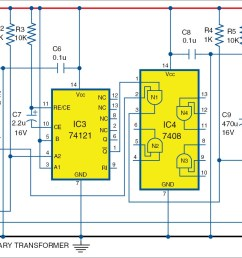 electronic bell circuit diagram [ 2750 x 891 Pixel ]