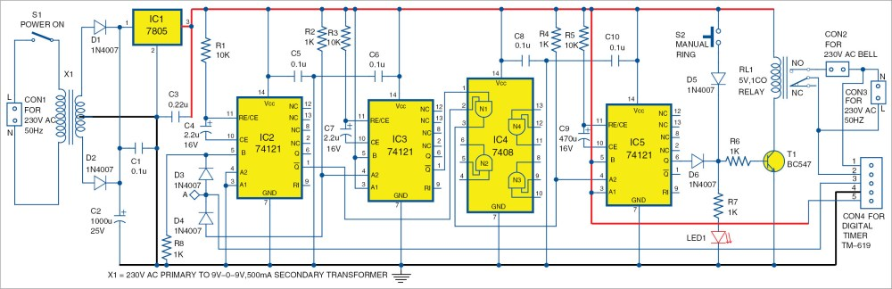 medium resolution of electronic bell circuit diagram