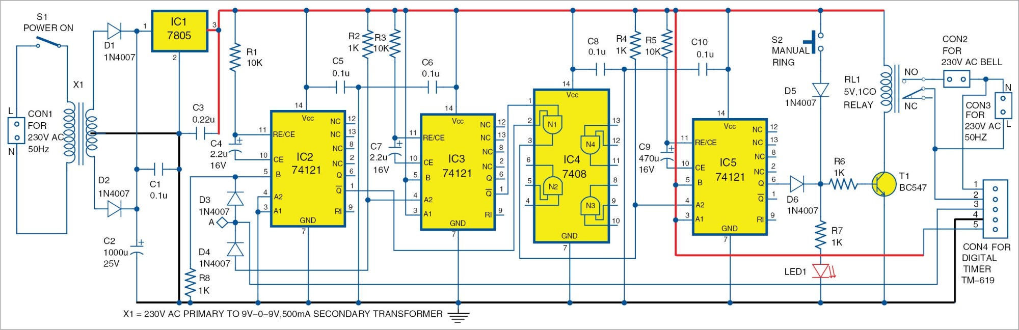 hight resolution of electronic bell circuit diagram
