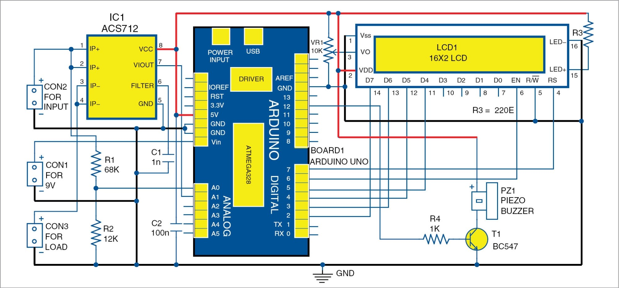 hight resolution of dc panel meter using arduino