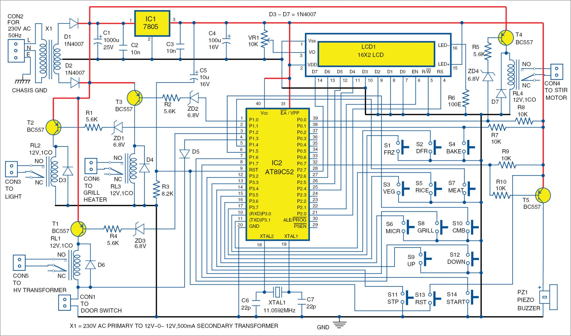 hight resolution of microwave oven wiring diagram wiring diagram toolbox microwave oven control board full electronics project microwave oven