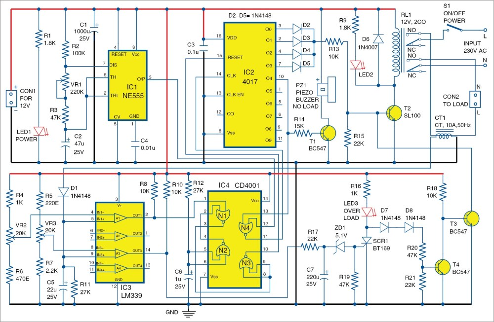 medium resolution of no load and overload protector for ac motors full electronics project free circuit diagrams 4u power on time delay circuit