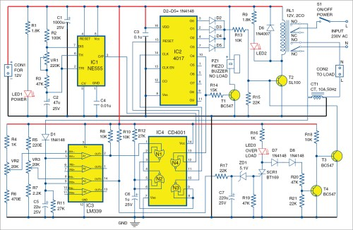 small resolution of no load and overload protector for ac motors full electronics project free circuit diagrams 4u power on time delay circuit