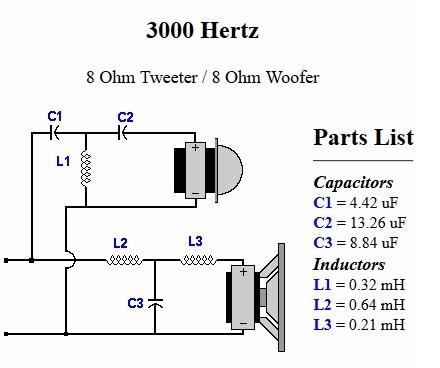 tweeter crossover wiring diagram