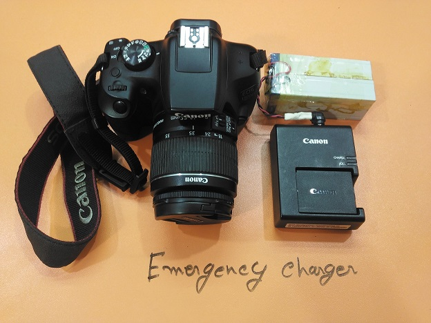 How to make emergency battery charger for DSLR Camera?