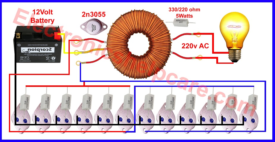 Fantastic How To Make Inverter 12V To 220V Unlimited Watts Electronics Help Care Wiring Database Numdin4X4Andersnl