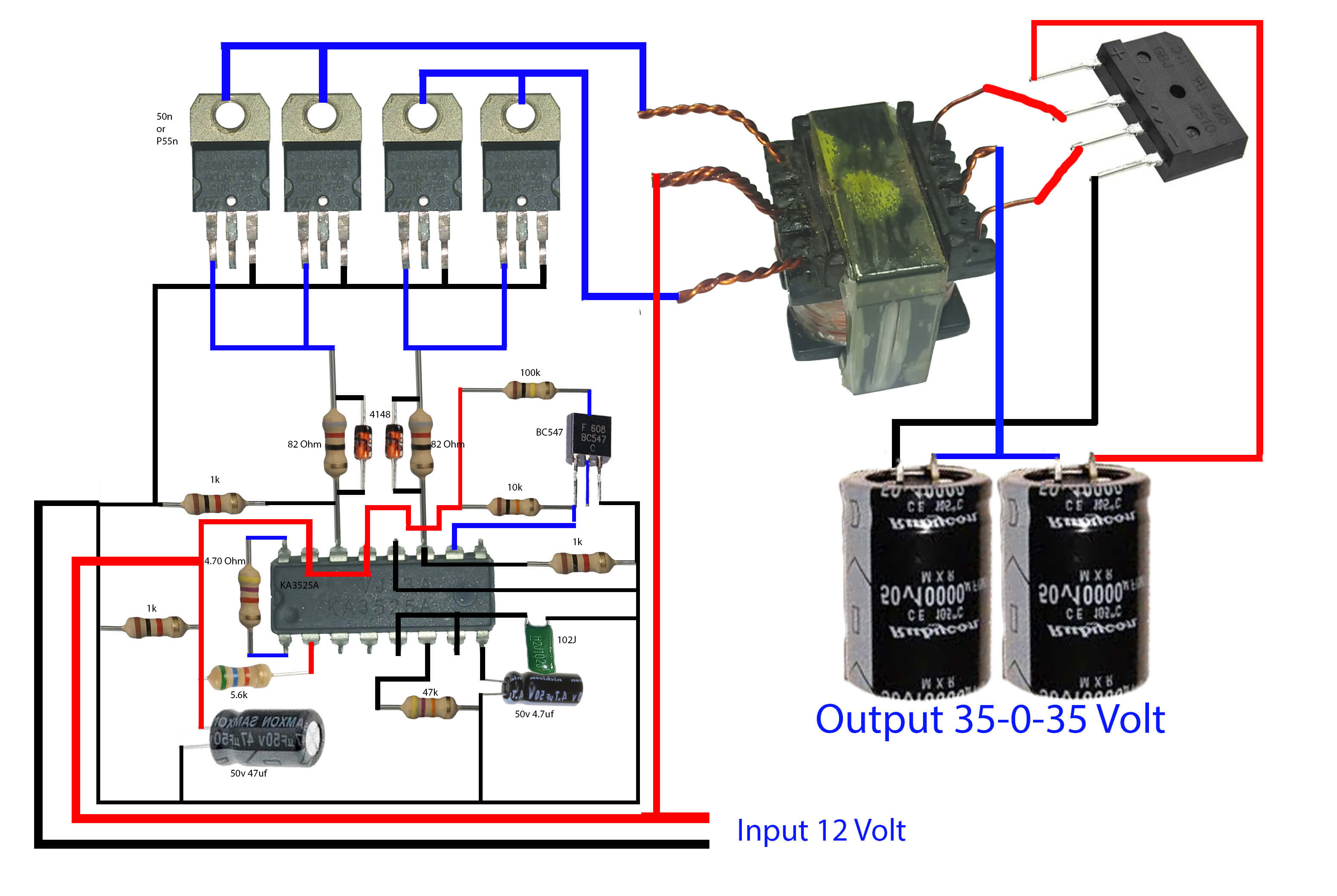 how to make inverter for amplifier - Electronics Help Care