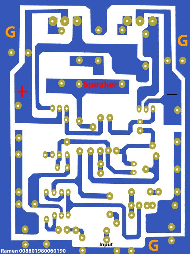 2sc5200 2sa1943 amplifier circuit diagram pcb