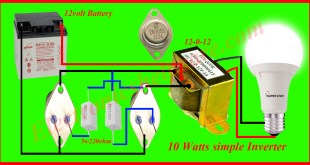how to make an inverter at home 10 watts