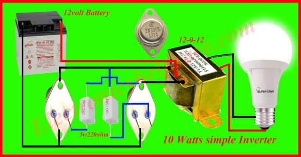 how to make an inverter at home 5 watts