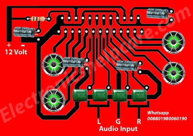 4.1 amplifier schematic diagram, TDA7388