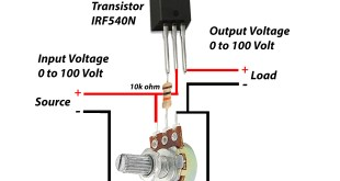 Voltage controller circuit with ampere using IRF540N? electronics