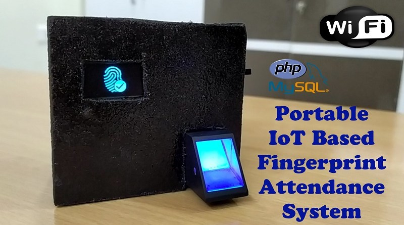 Portable IoT Based Fingerprint Biometric Attendance System using NodeMCU