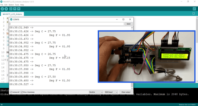 Interfacing MAX6675 with arduino and LCD