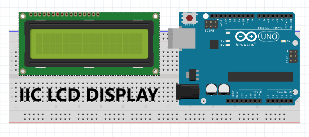 How to Connect I2C LCD Display to Arduino - Electronics Projects Hub