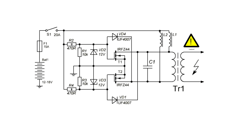 zvs induction heater circuit