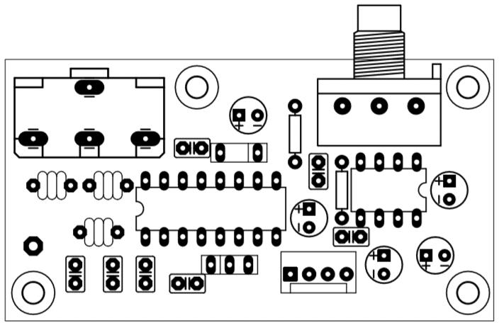 fm radio circuit top view