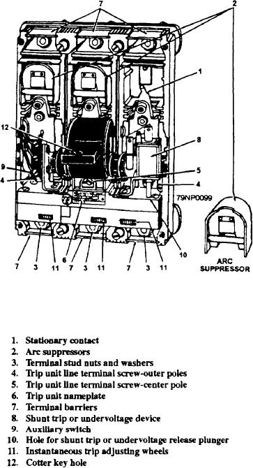 Figure 2-52.--AQB-A250 circuit breaker complete front view