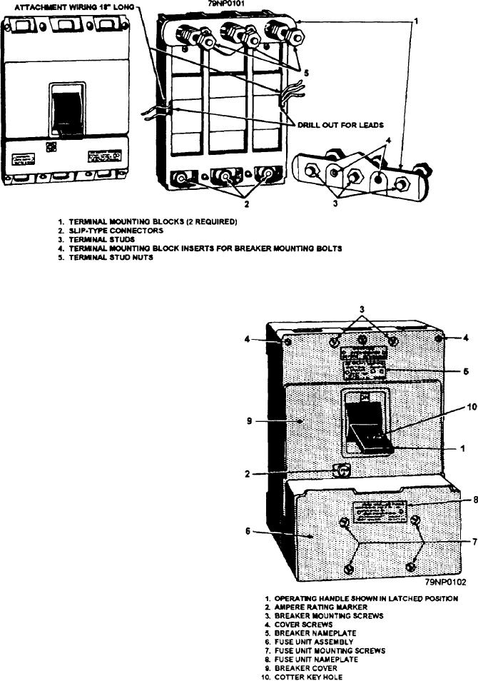Figure 2-54.--AQB-A250 circuit breaker, rear view, with