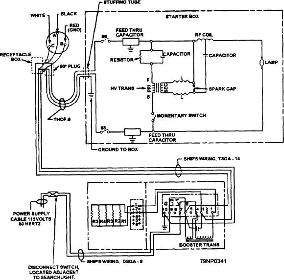 figure 432wiring diagram for a 12inch mercuryxenon arc