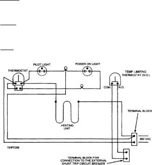 Figure 550Wiring diagram of the Mk 721 deep fat fryer