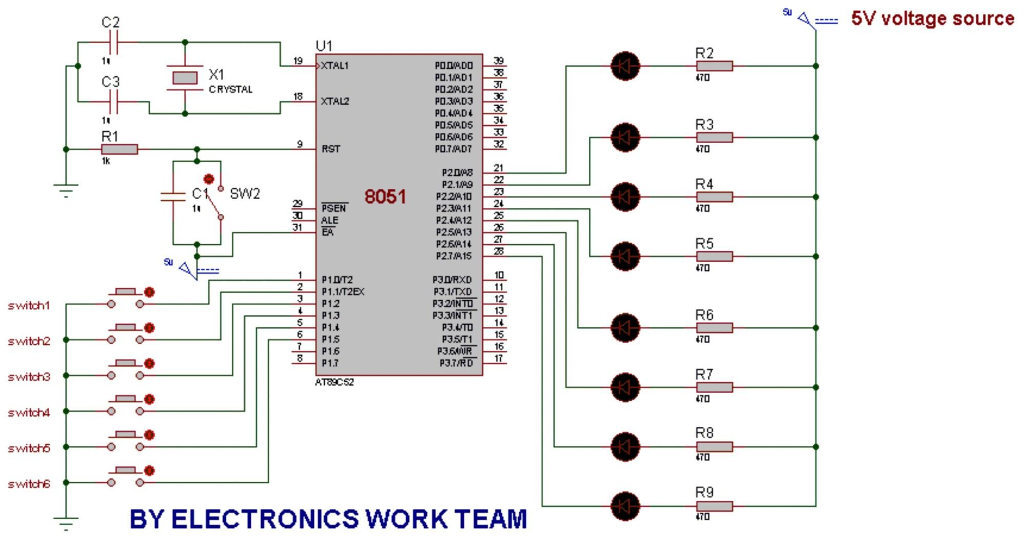 hight resolution of circuit diagram 8051 microcontroller wiring diagram user circuit diagram of interfacing leds to 8051 microcontroller wiring