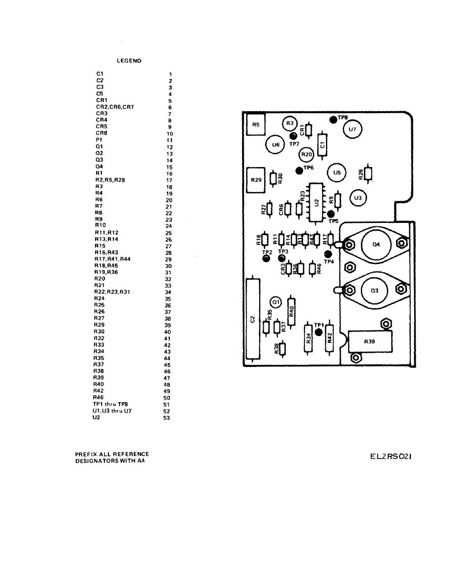Figure 13. Circuit Card Assembly, YIG Driver, A4 (Sheet 1