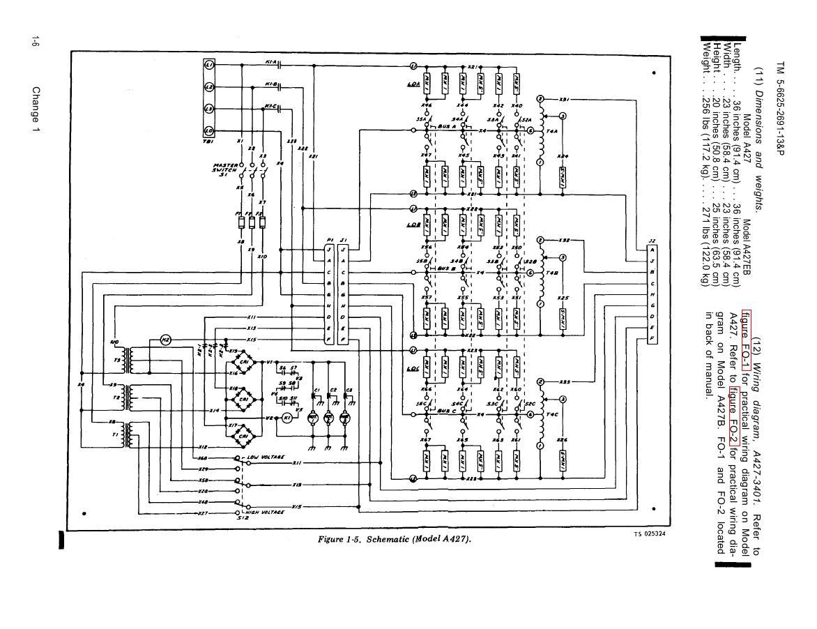 Figure 1-5. Schematic (Model A427)