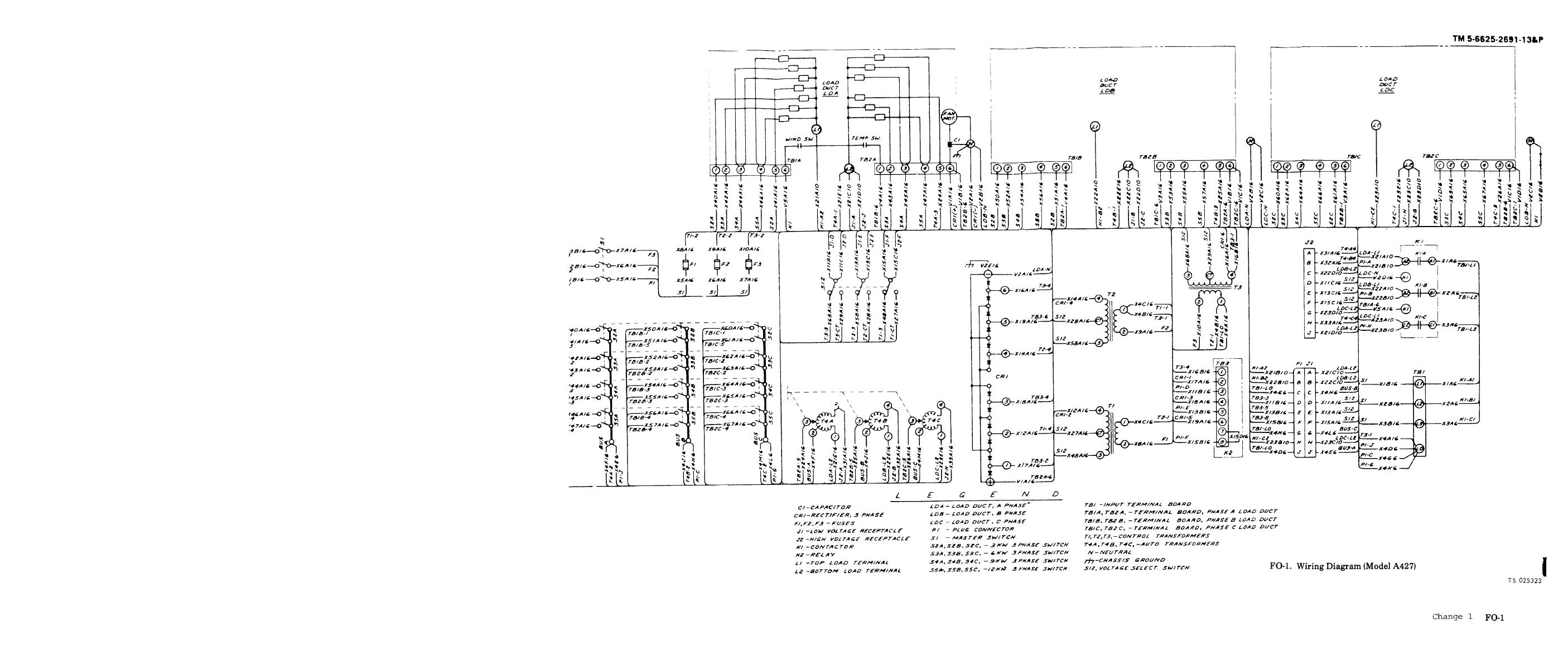 FO-2 Wiring diagram (Model A427B)