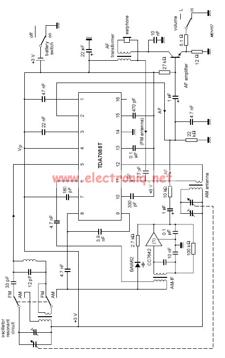 TDA7088T fm receiver circuit
