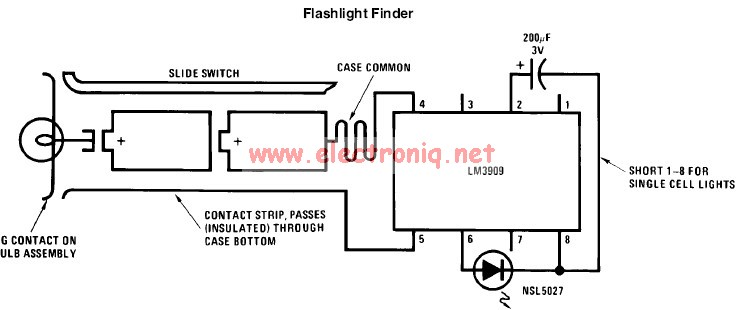 Lm3909 LED flasher circuit