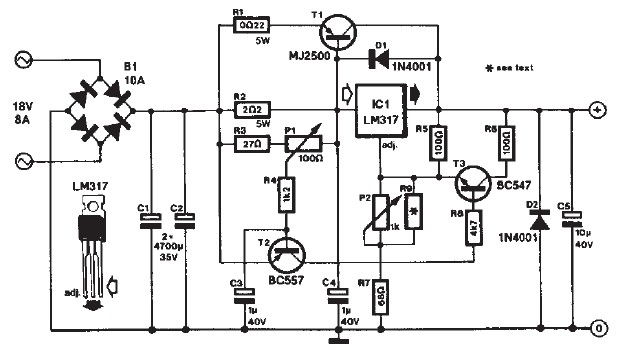 LM317 DC motor speed controller