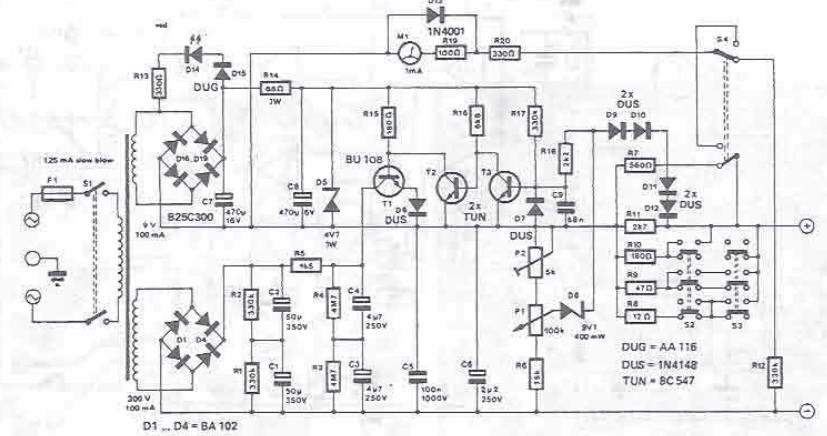 300V variable power supply circuit diagram