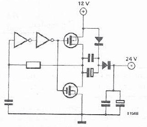 12 to 24 volt converter electronic project