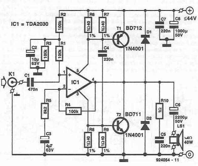 TDA2030 40W power amplifier