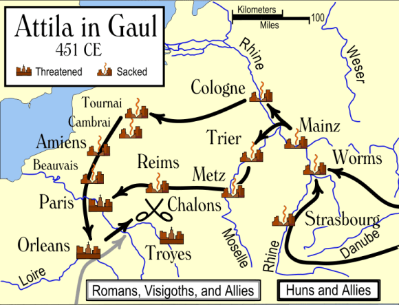 Atila in Gaul