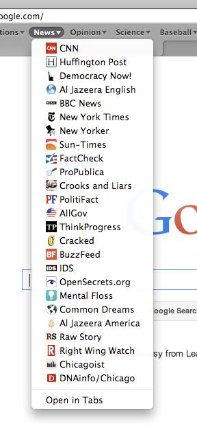 MG News Bookmarks