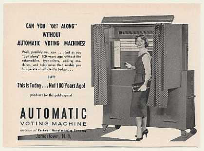 Vintage Voting Machine