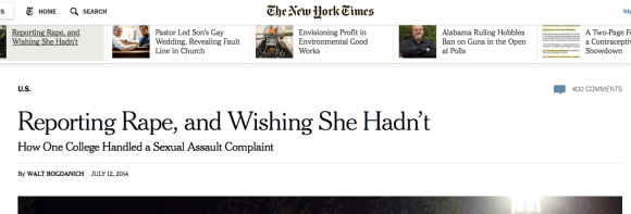 NYT Front Page Story