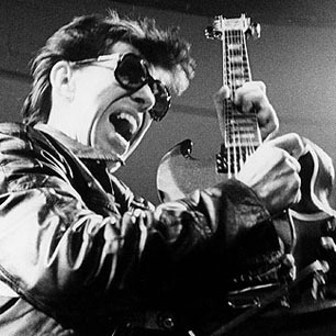 Link Wray performing in the 1970s. *** USA ONLY *** © David Warner Ellis / Redferns / Retna Ltd.