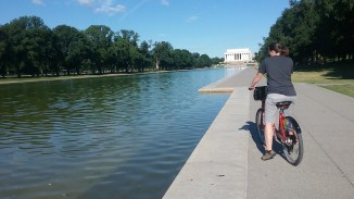 The Loved One at the Lincoln Memorial.