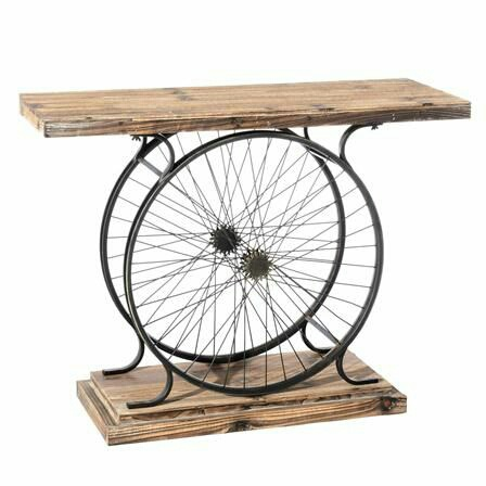 Велосипед и интерьер столик из колес