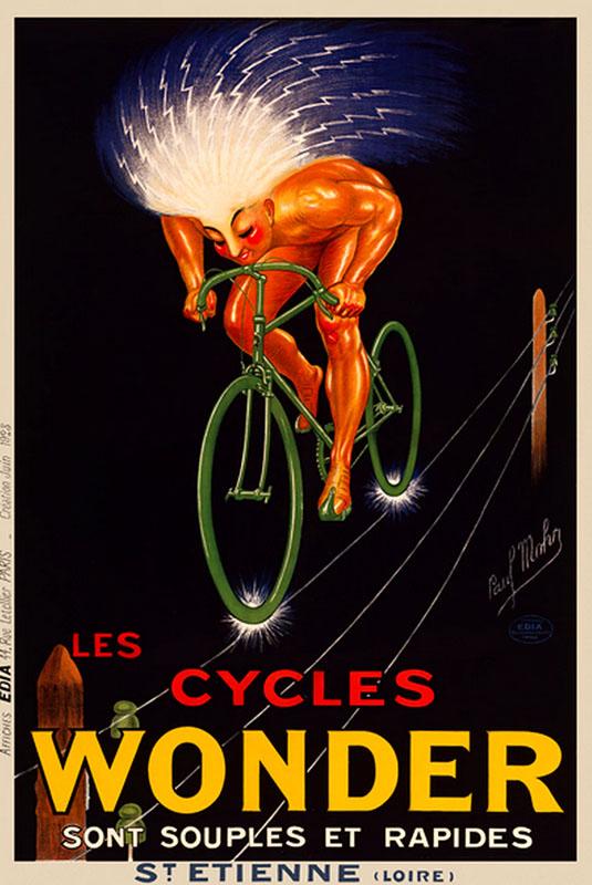 электровелосипед постер ретро